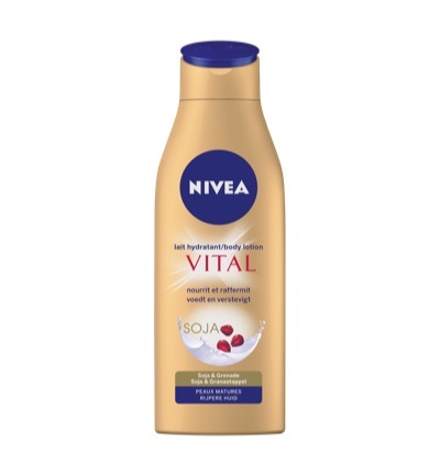 Nivea Body Milk Vital Anti-age Met Pomp 250ml