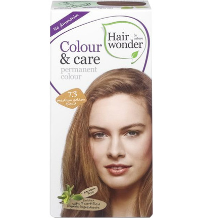 Colour and care 7.3 medium gold blond