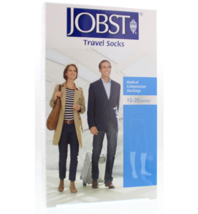 Travel socks zwart maat 3 (41-42)