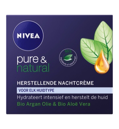 Pure & natural nachtcreme