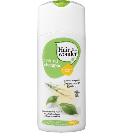 Natural shampoo coloured hair