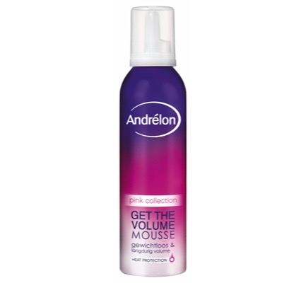 Pink collection get the volume mousse
