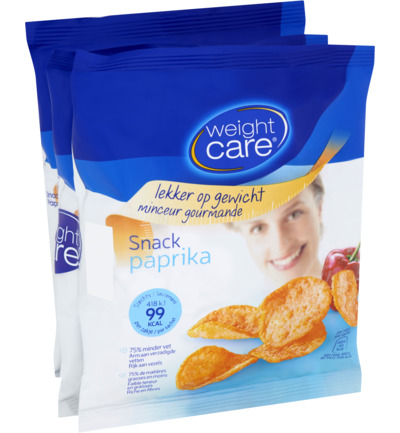 Weight Care Snack Paprika (3x25g)