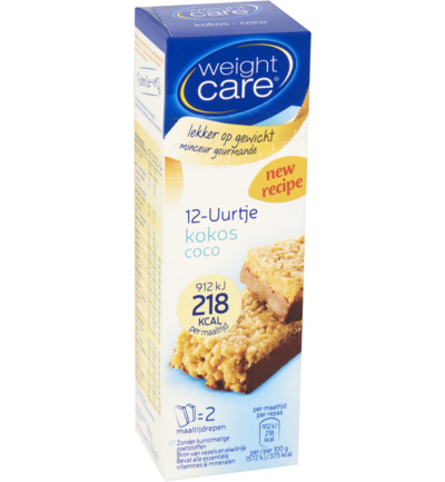 Weight Care 12 Uurtje Afslankreep Kokos (116g)