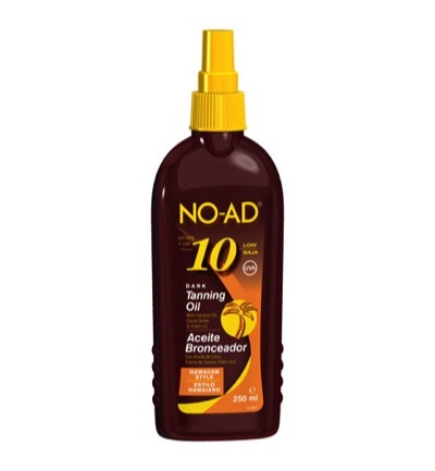 Sun tan oil spray hawaiian dark SPF 10