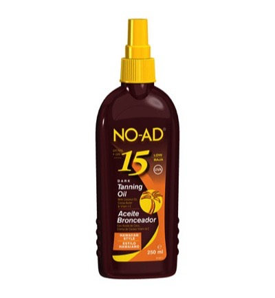 Sun tan oil spray hawaiian dark SPF 15