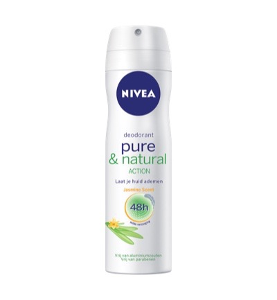 Deodorant pure & natural jasmine spray