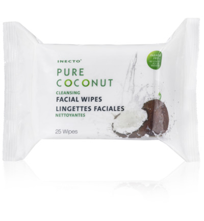 Coconut oil milk cleansing wipes