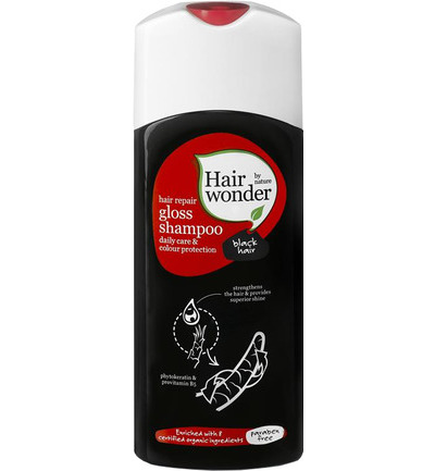 Hair repair gloss shampoo black hair