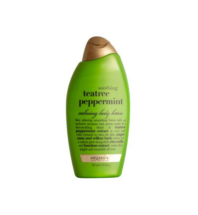 Body lotion tea tree pepper