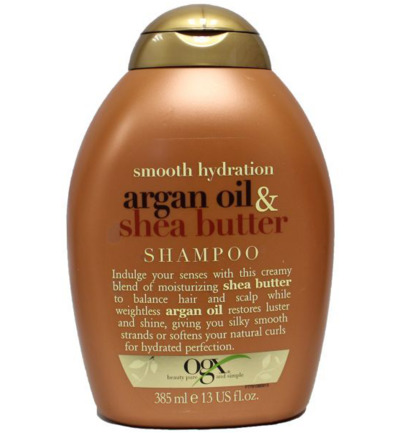 Smooth hydration argan oil/shea butter shampoo