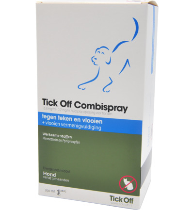 Tick off combispray hond