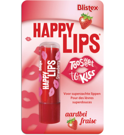 Happy lips aardbei blister