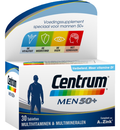 Centrum Multivitamine Men 50plus 30tabl
