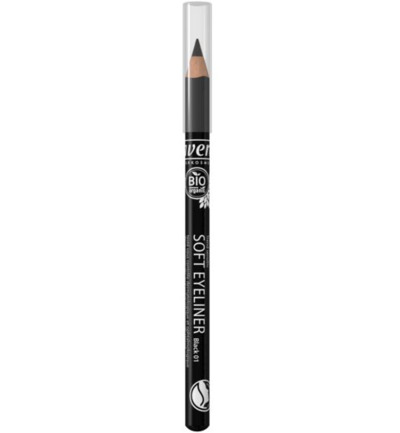 Oogpotlood/eyeliner soft black 01