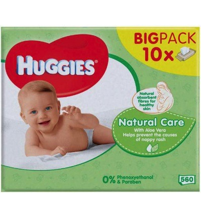 Wipes natural care 10 x 56 stuks