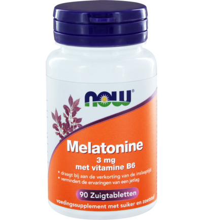 Melatonine 3 mg met vitamine B6