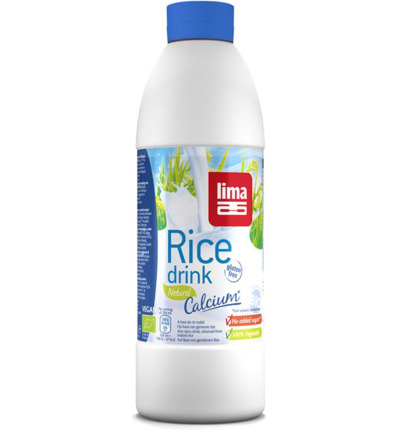Rice drink natural calcium bottle