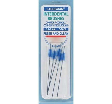 Interdental brushes conical 3.1 - 8 mm