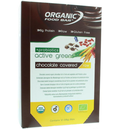 Bar active green covered probiotica 68 gram