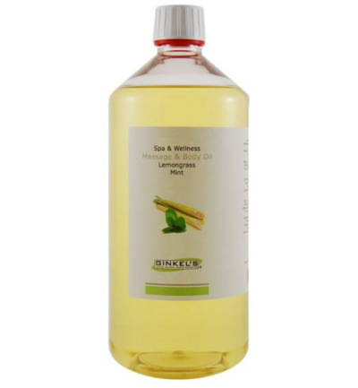 Massage & body oil lemongrass & mint