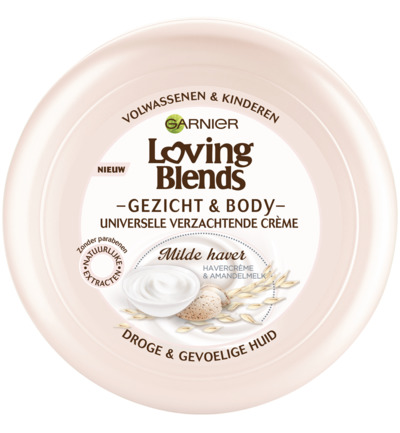 Loving blends gezicht & body creme wilde haver