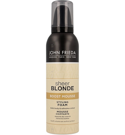 Sheer blonde mousse boost styling foam