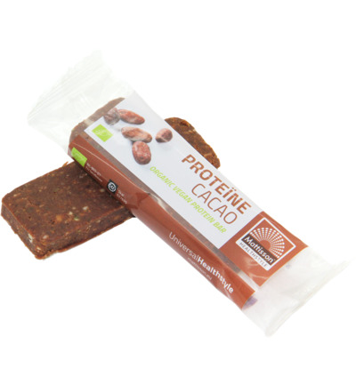 Organic energy bar protein cacao