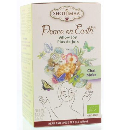 Peace on earth allow joy chai moka
