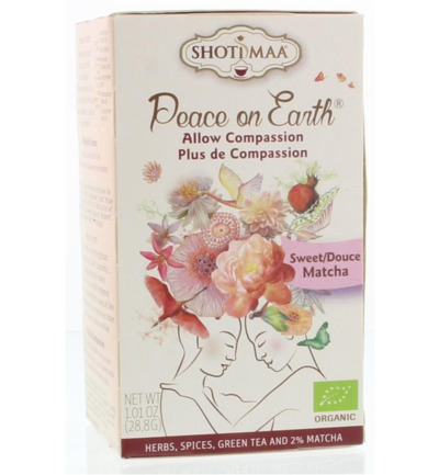 Peace on earth allow compassion sweet matcha