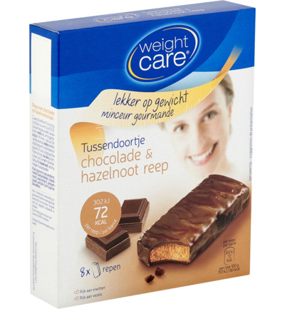 Weight Care Tussendoortje Chocola Hazelnoot Reep (8st)