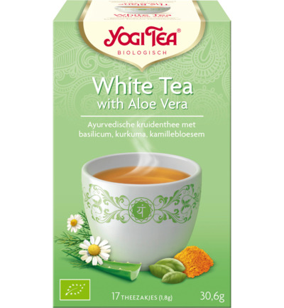 White tea with aloe vera