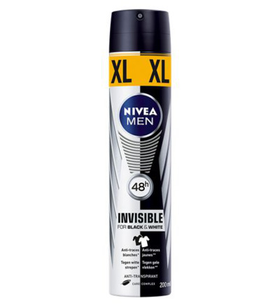 Men deodorant black & white XL spray