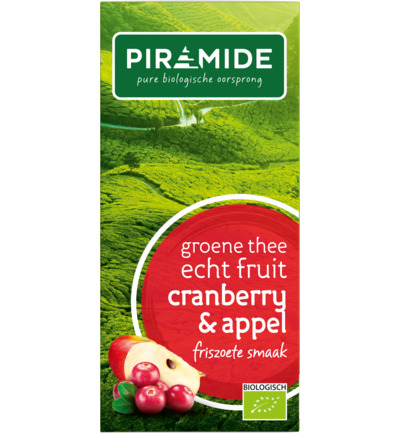 Groene thee cranberry/appel