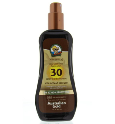 Spray gel met bronzer SPF30