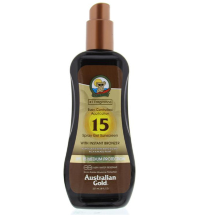 Spray gel met bronzer SPF15