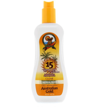 Spray gel SPF15