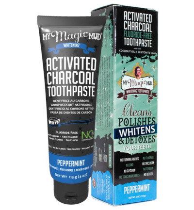 Activated carbon toothpaste peppermint