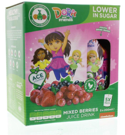 Kids drink Dora mixed berries 200 ml