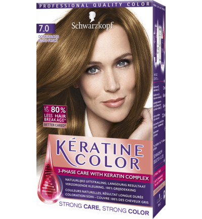 Keratine color 7.0 donker blond
