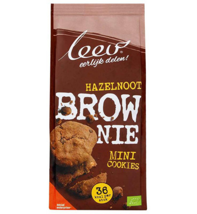 Bio oerrr mini brownie hazelnoot speltvolkoren
