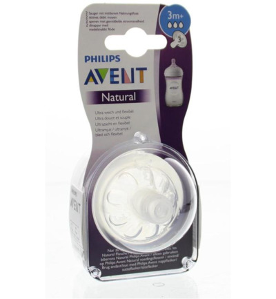 Speen natural medium flow 3 druppels normaal 3mnd