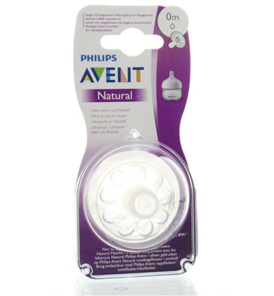 Natural newborn soft flow voedingsspeen 1 druppel