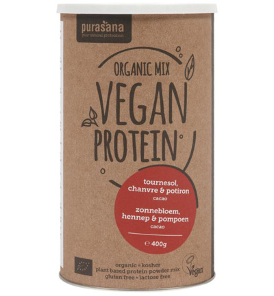Vegan protein mix pumpkin sunflower hemp cacao