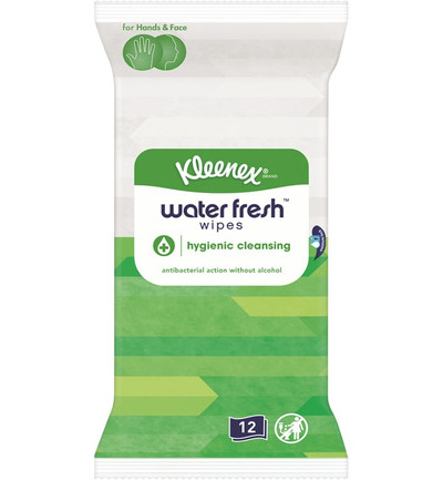 Water fresh wipes hygiene