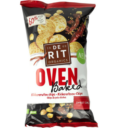 Kikkererwtenchips ovenbaked sweet chili