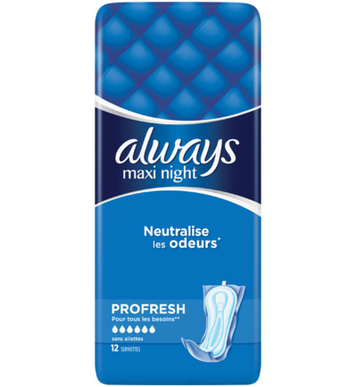 Maandverband profresh maxi night single