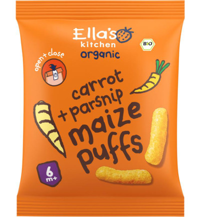 Maize puffs carrot/parsnip 6+ maanden