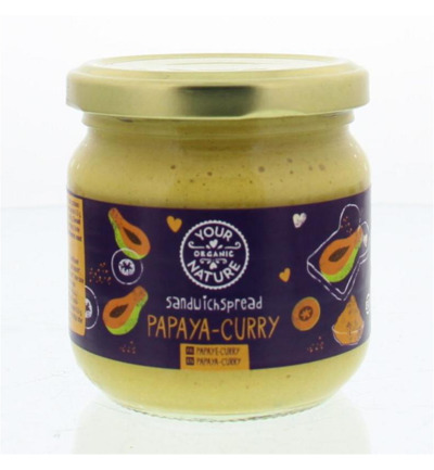 Sandwichspread papaya-curry
