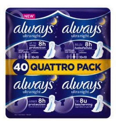 Maandverband ultra night quatropack